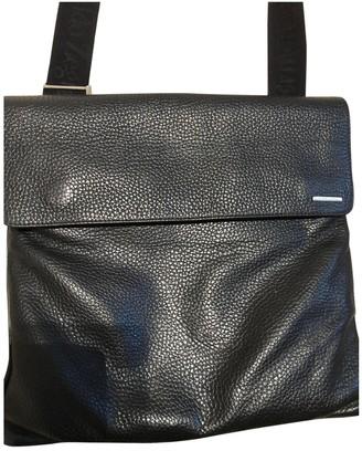 Ermenegildo Zegna Black Leather Bags