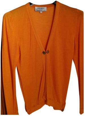 Saint Laurent Orange Cashmere Knitwear