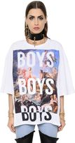 Fausto Puglisi Oversized Printed Cotton Jersey T-Shirt