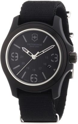 Victorinox Men's 241517 Original Black Dial and Strap Watch Watch