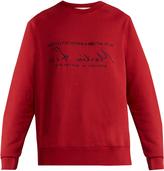 MARTINE ROSE Embroidered cotton-jersey sweatshirt