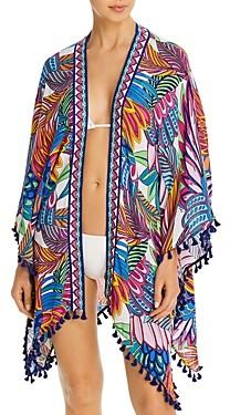 Trina Turk Paradise Plume Kimono Swim Cover-Up