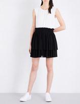 Claudie Pierlot Two-tone crepe dress