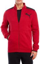 Puma Red Fleece Mock Neck Jacket