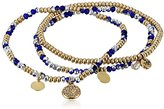 Kenneth Cole New York Mixed Blue Faceted Bead Stretch Bracelet