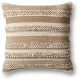 "Loloi Textured Stripe Decorative Pillow, 22"" x 22"""