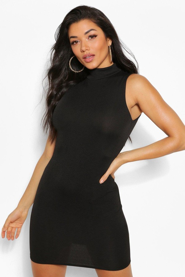 boohoo High Neck Sleeveless Mini Dress