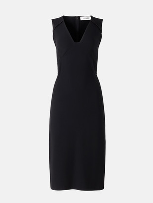 Diane von Furstenberg Magdalena Stretch-Crepe Midi Dress