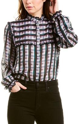 Jason Wu Striped Plaid Top