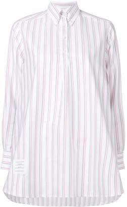 Thom Browne Tricolor Tunic Shirtdress
