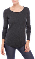 in cashmere Roll-Edge Cashmere Sweater
