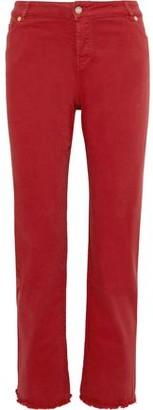 Alexandre Vauthier Frayed High-rise Straight-leg Jeans