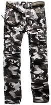 Bmeigo Mens Cotton Military Cargo Multi Pocket Camo Straight Fit Pants -E16