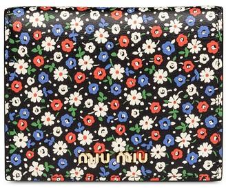 Miu Miu flower printed glacé wallet