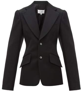Maison Margiela Oversize-sleeved Wool Suit Jacket - Womens - Black