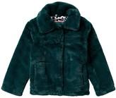 Urban Republic Faux Fur Snap Button Coat (Big Girls)