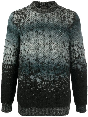 Roberto Collina Gradient Knitted Long Sleeve Jumper