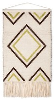 "Mudhut 28""x44"" Hand Woven Wall Décor - Ivory/Lime Green/Brown"