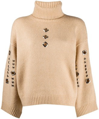 Pinko Knitted Jumper With Stud Detailing