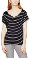 Teddy Smith Women's Teyla Striped Short Sleeve T-Shirt,(Taille Fabricant: 3)