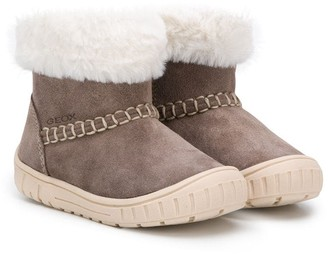 Geox Kids Fur-Trimmed Ankle Boots