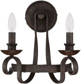 Quoizel Noble 2-Light Wall Sconce in Rustic Black