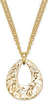 Charter Club Erwin Pearl Atelier for Gold-Tone Enamel Swirl Pendant Necklace, Created for Macy's