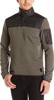 Calvin Klein Men's Mixed Media Fleece 1/4 Snap Jacket