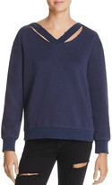 Honey Punch Cutout Hooded Sweatshirt
