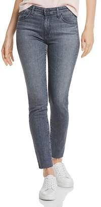 AG Jeans Prima Mid-Rise Skinny Ankle Jeans in Gray Light