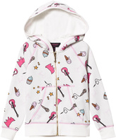 Juicy Couture White Food and Music Print Hoody