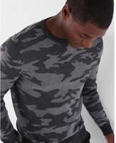 Express camo crew neck sweater