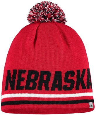 Men's Top of the World Scarlet Nebraska Cornhuskers Stoic Knit Beanie with Pom