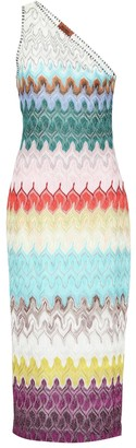 Missoni One-shoulder knit dress