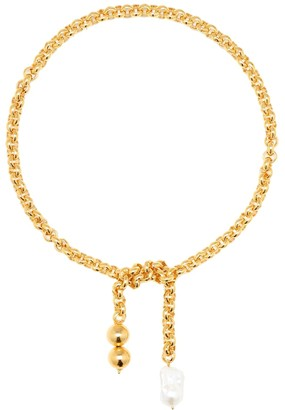 Timeless Pearly 24kt Gold-Plated Chain Necklace With Pearls
