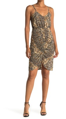Abound Ruched Front Print Dress