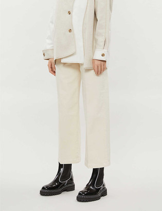 Frame Ali cropped high-rise wide-leg jeans