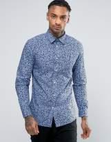 Diesel S-Blu Floral Skull Print Shirt