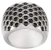 Zeeme-Unisex Ring Stainless Steel Crystal Black 389070017 black