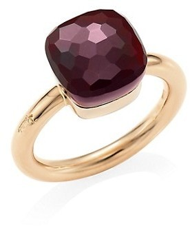 Pomellato Nudo 18K Rose Gold, White Gold Garnet Ring