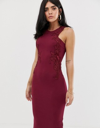 AX Paris lace detail midi dress