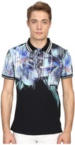 Just Cavalli Tropical Ikat Print Short Sleeve Polo