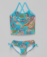 Kanu Surf Blue Paisley Caroline Tankini - Infant, Toddler & Girls