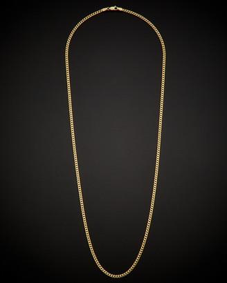 Italian Gold Fremada 14K Miami Cuban Link Necklace