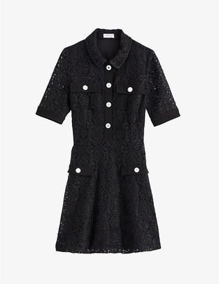 Claudie Pierlot Roseau floral-lace dress