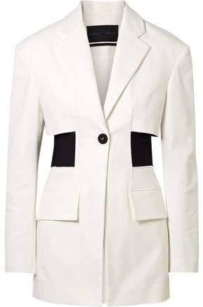 Proenza Schouler Stretch Knit-paneled Cotton-blend Twill Blazer