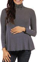 24/7 Comfort Apparel 24-7 COMFORT APPAREL Turtleneck Pullover Sweater-Plus Maternity
