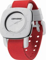 Converse VR021650 1908 Regular Square Analog Dial and Red Canvas Pull Through Strap Watch