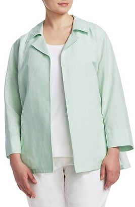 Lafayette 148 New York, Plus Size Tate Cotton & Linen Jacket