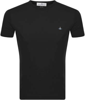 Vivienne Westwood Small Orb Logo T Shirt Black